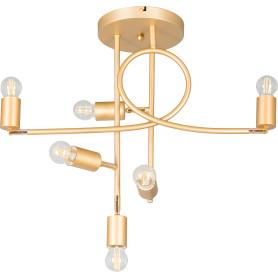 Люстра потолочная Karma, 6 ламп, 16 м², с диммером, цвет золотой/белый