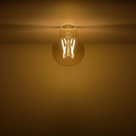 Лампа светодиодная филаментная Gauss Basic Golden A60 E27 230 В 3 Вт груша прозрачная с напылением 300 лм, тёплый белый свет