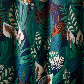 Штора на ленте Shangri La 160x260 см цвет зелёный