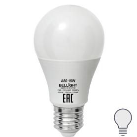Лампа светодиодная Е27 220 В 15 Вт груша матовая 1200 лм, нейтральный белый свет