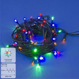 Электрогирлянда комнатная Uniel «Нить» 5 м 50 LED мультисвет