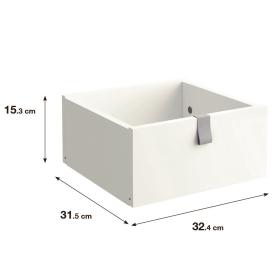 Ящик выдвижной SPACEO KUB 32.4x15.2x31.5 см, цвет белый
