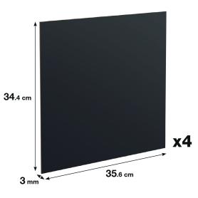 Задняя стенка Spaceo Kub 35.6x34.4 см, МДФ, цвет графит