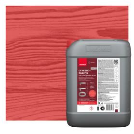Пропитка огнебиозащитная Neomid для дерева 12 кг, красный оттенок