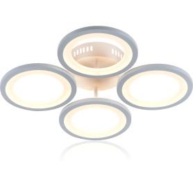 Люстра потолочная светодиодная Escada 10209/4 с пультом управления, 24 м², регулируемый белый свет, цвет белый
