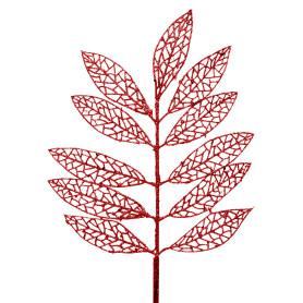 Новогоднее украшение «Ветка ясень» 43 см цвет красный