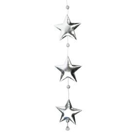 Гирлянда новогодняя «Серебристые звездочки» 50 см