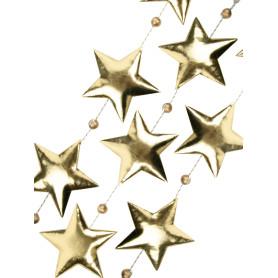 Гирлянда новогодняя «Золотистые звездочки» 170 см