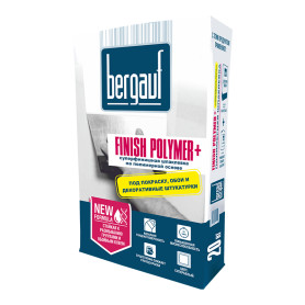 Шпаклёвка полимерная финишная Bergauf Finish Polyme 20 кг