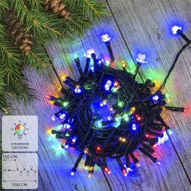 Электрогирлянда комнатная «Нить» 10 м 100 LED мультисвет 8 режимов