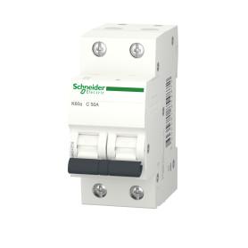 Выключатель автоматический Schneider Electric Acti9, 2 полюса 50 А