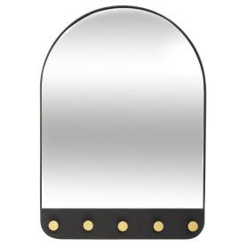 Зеркало декоративное Chic с крючками, овал, 51x71 см, цвет чёрный