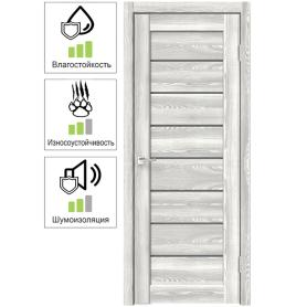 Дверь межкомнатная остеклённая Сохо 8 80х200 см с фурнитурой, ПВХ, цвет светлый клён