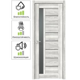 Дверь межкомнатная остеклённая Сиэтл 8 80х200 см с фурнитурой, ПВХ, цвет светлый клён