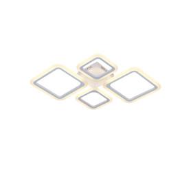 Люстра потолочная светодиодная Escada 10219/4 с пультом управления, 32 м², регулируемый белый свет, цвет белый