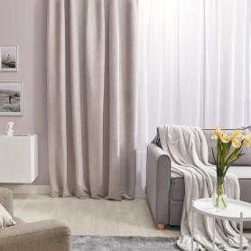 Штора на ленте со скрытыми петлями «Нью Манчестер», 200x280 см, цвет светло-серый