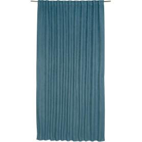 Штора на ленте со скрытыми петлями «Нью Манчестер», 200х280 см, цвет голубой