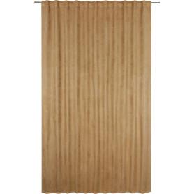 Штора на ленте со скрытыми петлями «Нью Манчестер», 200х280 см, цвет серый, коричневый
