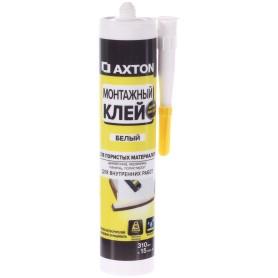 Клей монтажный Axton, 310 мл, акрил, цвет белый
