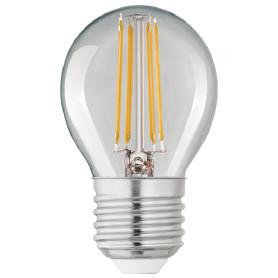 Лампа светодиодная Lexman E27 4 Вт шар 470 лм, тёплый белый свет