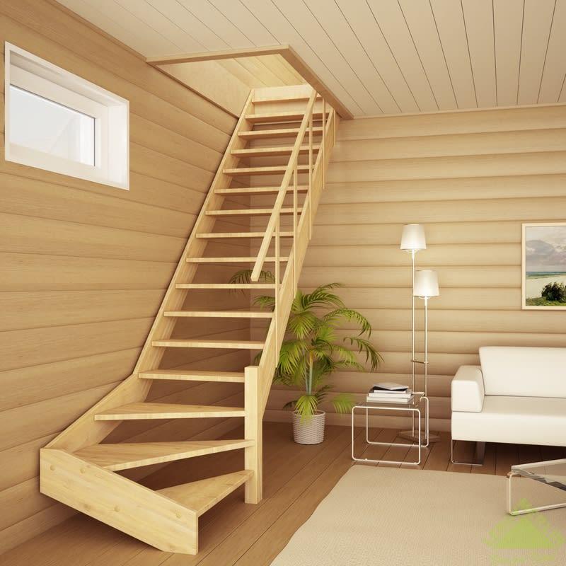 купить деревянную лестницу на второй этаж