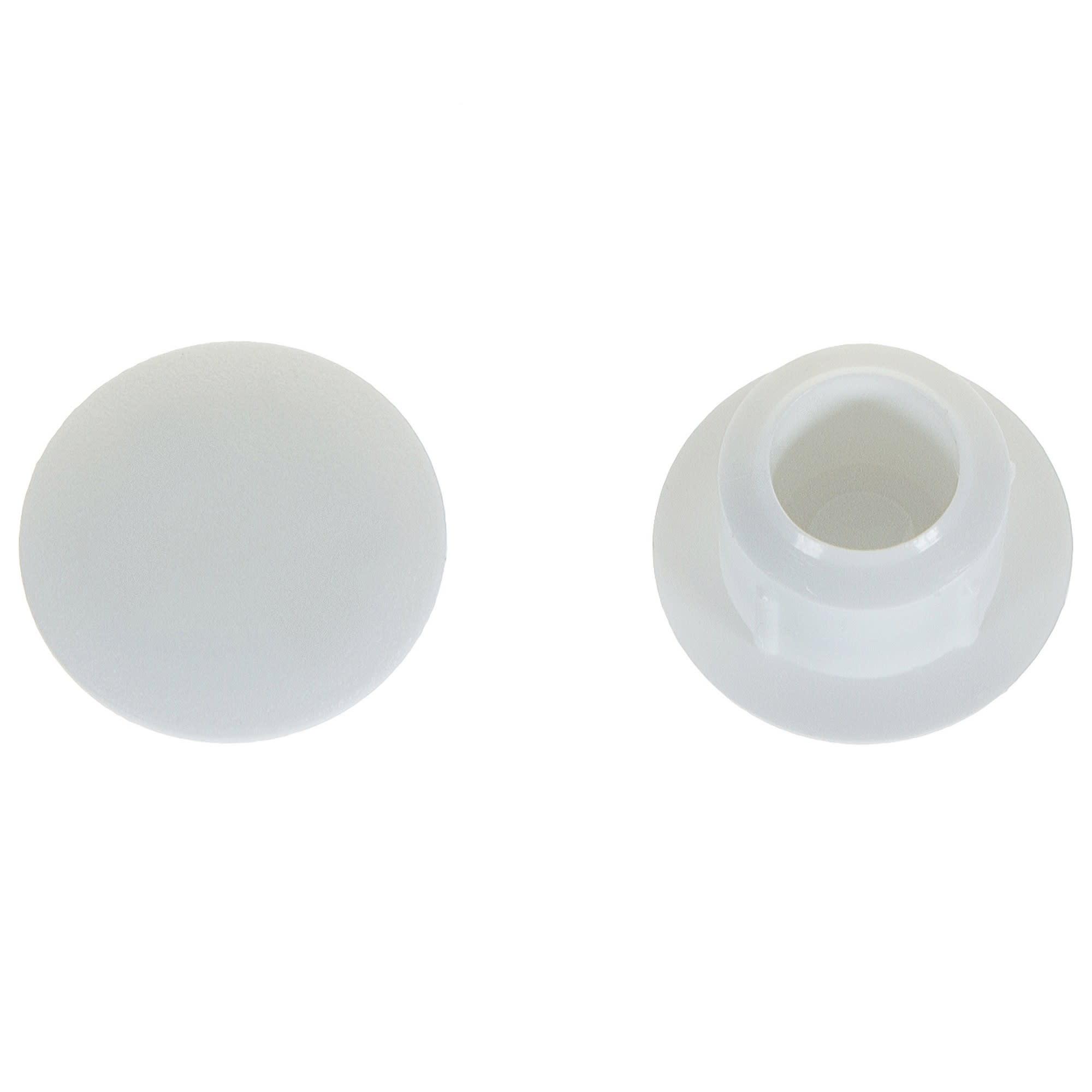 заглушка на отверстие 8 мм полиэтилен цвет белый 40 шт