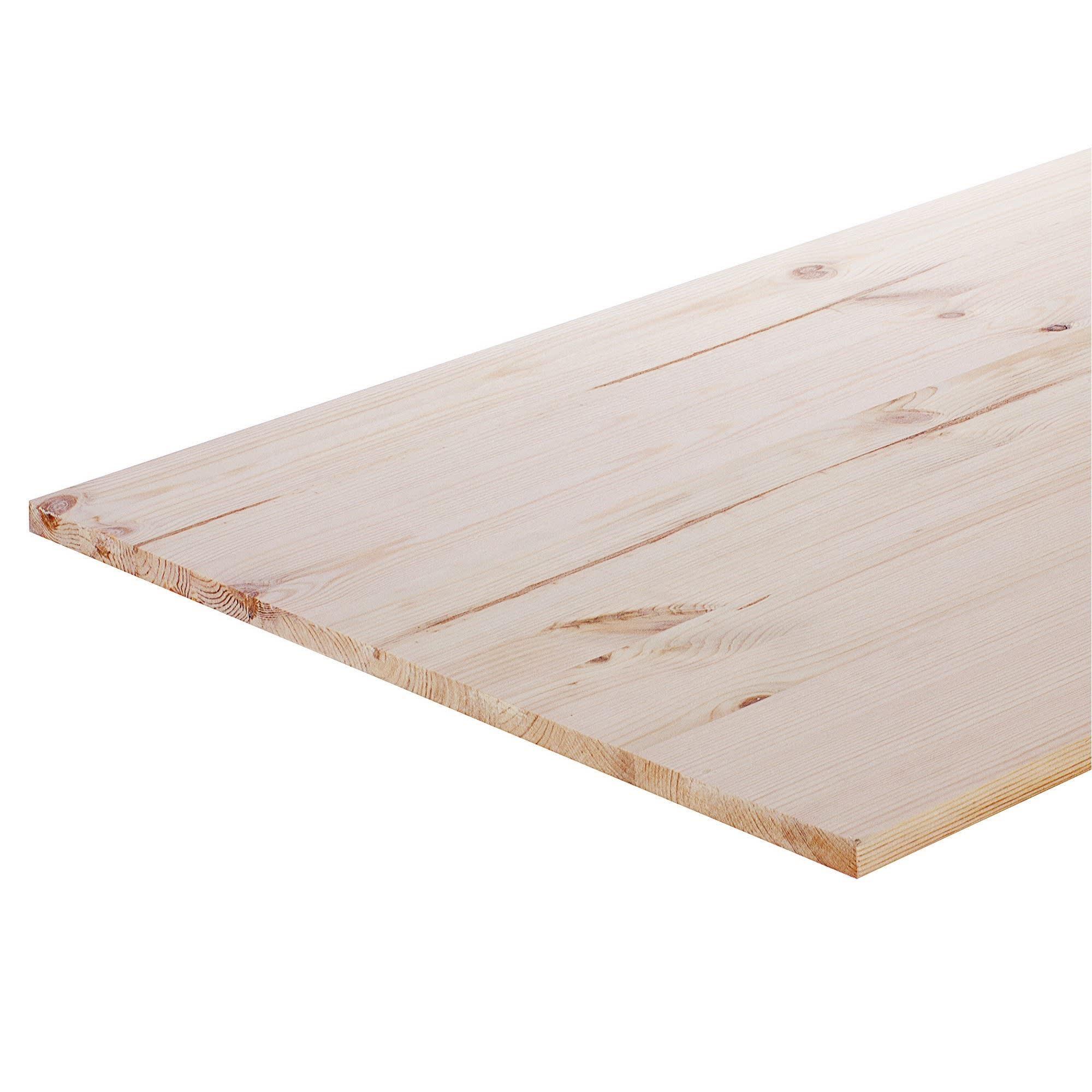 Мебельный щит, 800х600х18 мм, хвоя, сорт В