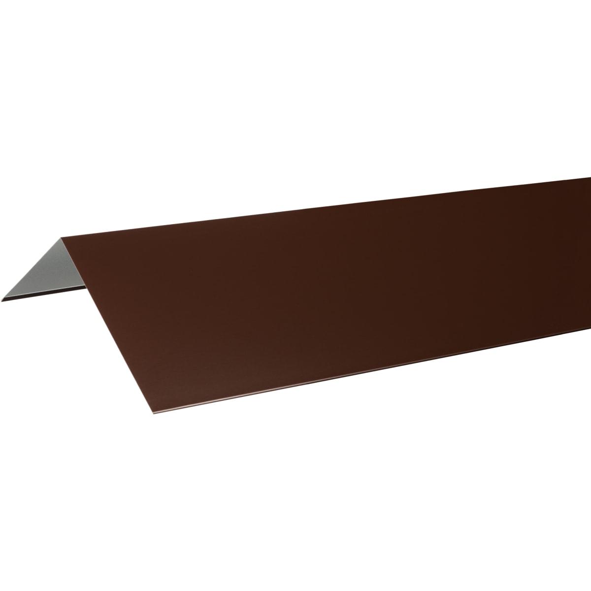 Конёк плоский с полиэстеровым покрытием 2 м цвет коричневый