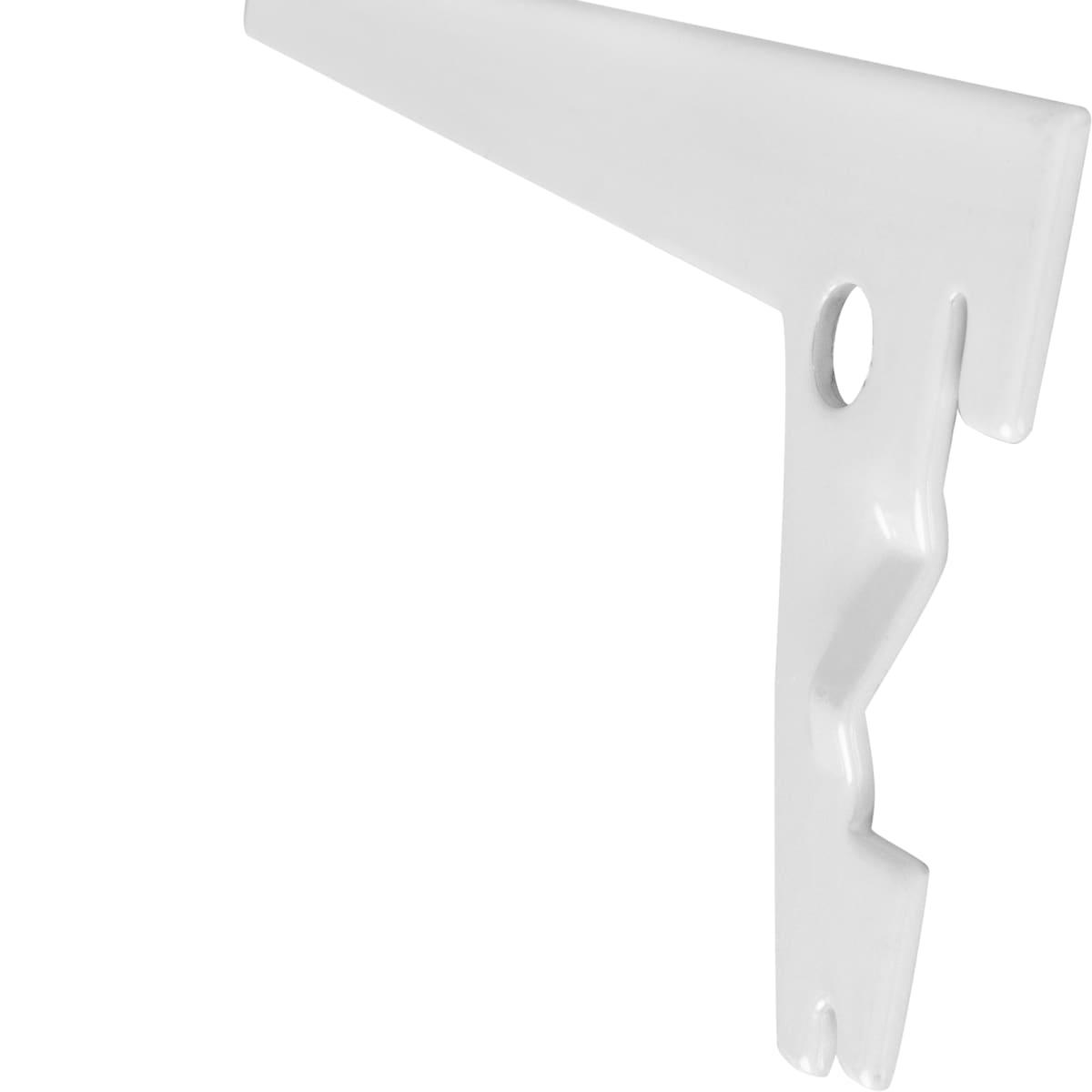 Кронштейн прямой однорядный 15 см нагрузка до 63 кг цвет белый