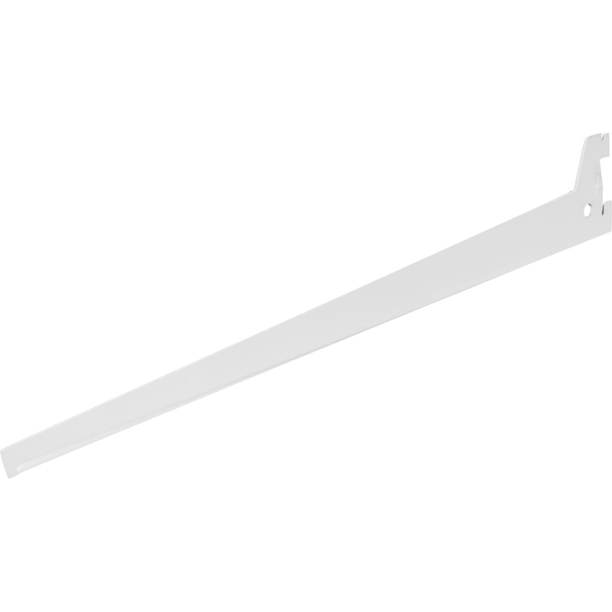 Кронштейн прямой однорядный 40 см нагрузка до 26 кг цвет белый