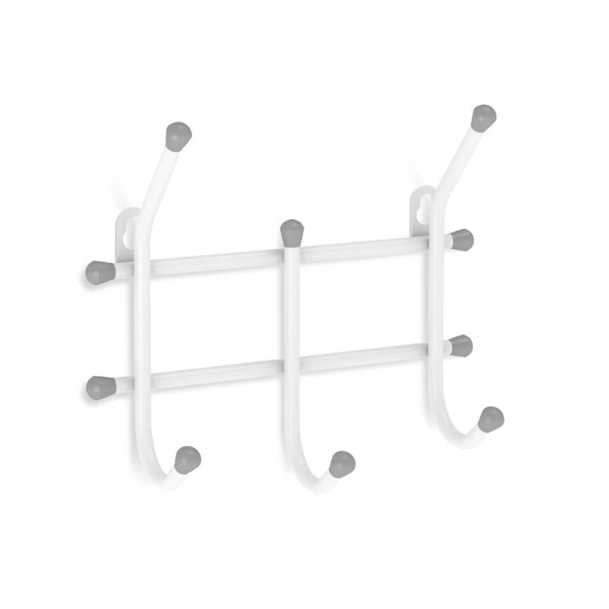 Вешалка настенная Стандарт 3 крючка, 11х28х32 см, цвет белый