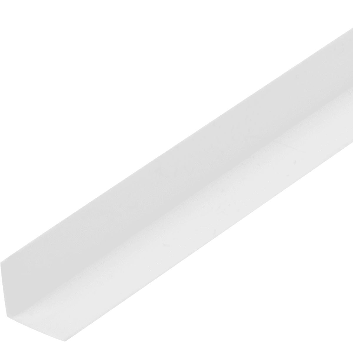 Уголок ПВХ 10x10x1x1000 мм, цвет белый