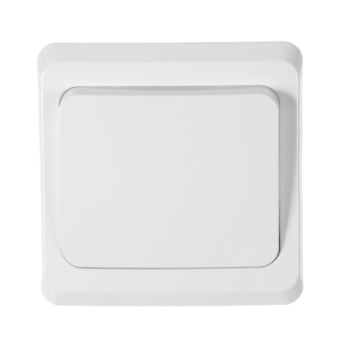 Выключатель встраиваемый Schneider Electric Этюд 1 клавиша, цвет белый