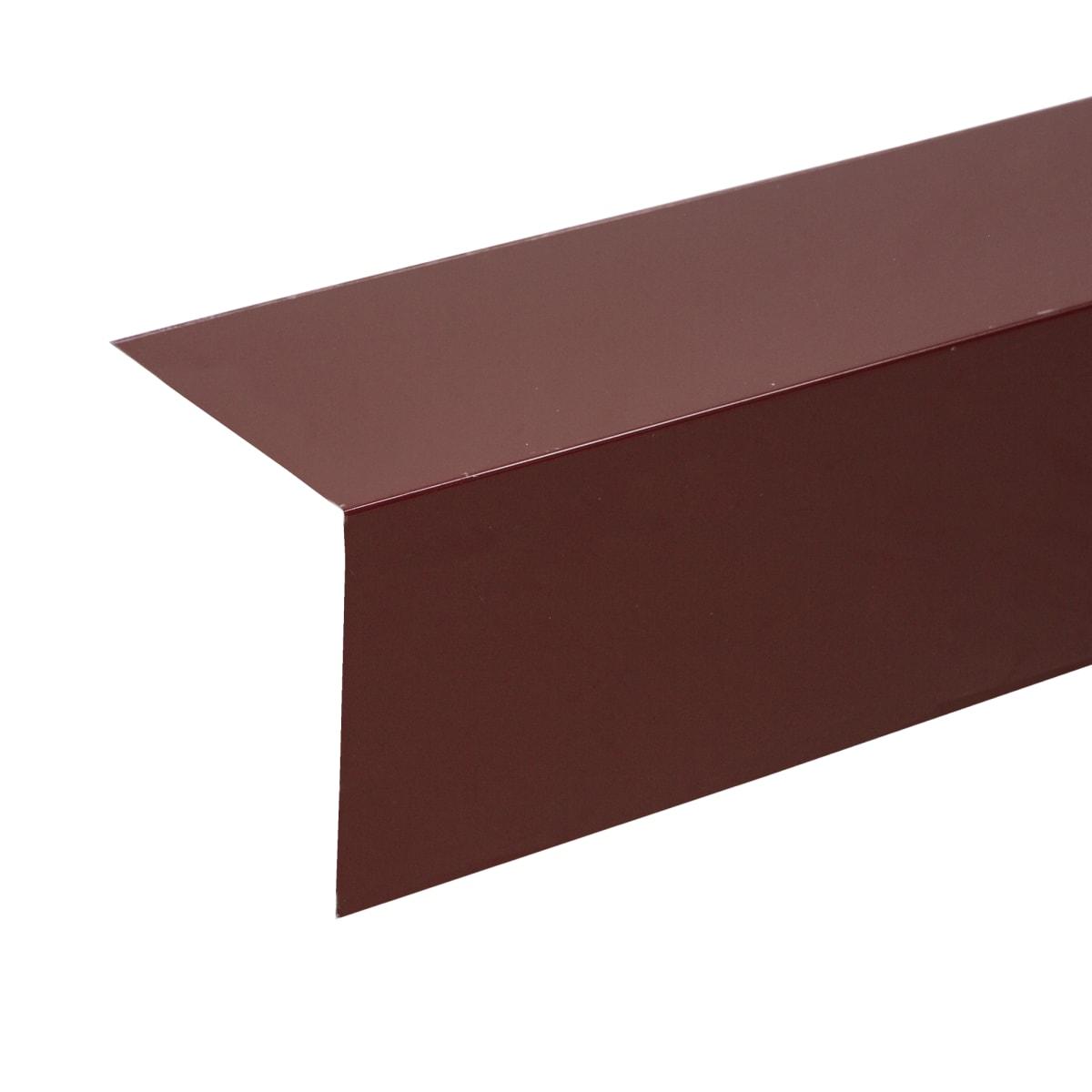 Планка для наружных углов с полиэстеровым покрытием 2 м цвет коричневый