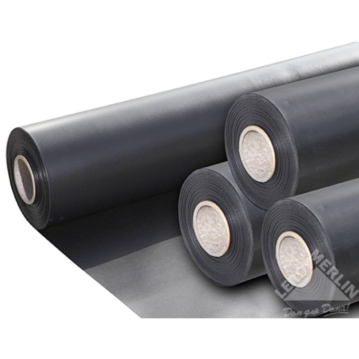 Плёнка ПВХ 0.5 мм 4 м, цвет чёрный