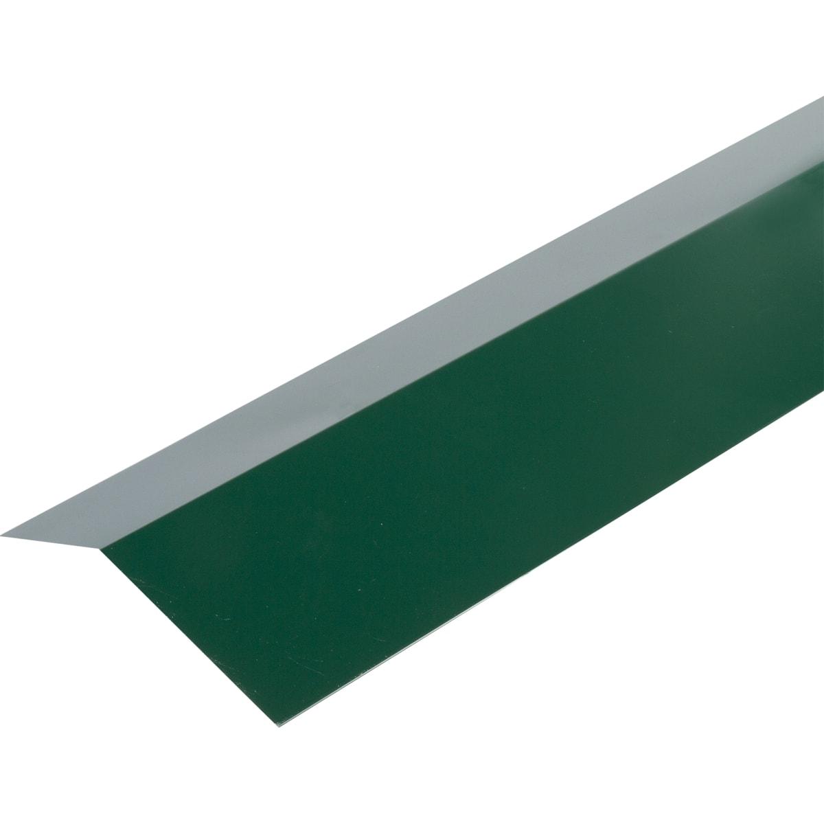 Планка карнизная с полиэстеровым покрытием 2 м цвет зелёный