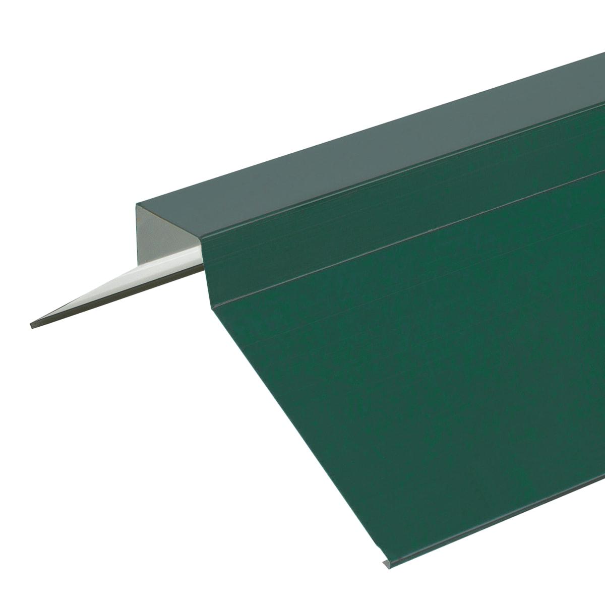 Конёк плоский с полиэстеровым покрытием 2 м цвет зелёный