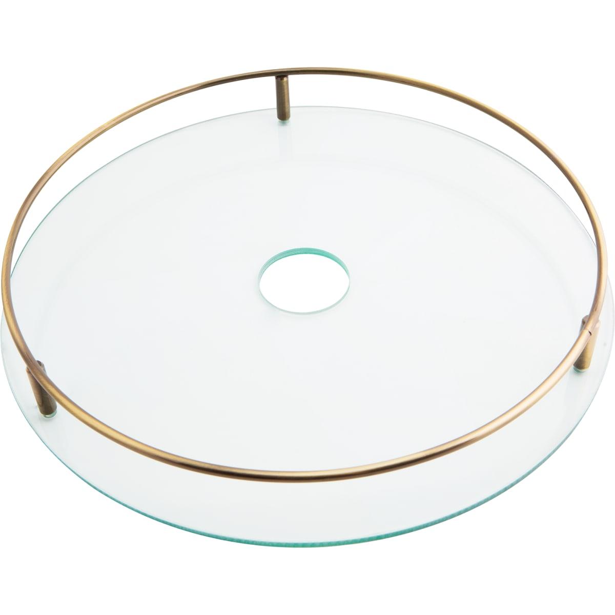 Полка стеклянная 35 см, бронза