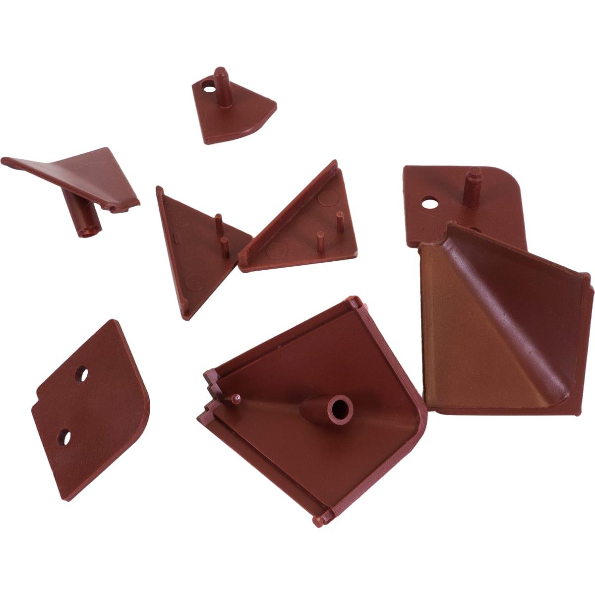 Заглушки к плинтусу 4х5 см цвет коричневый, 6 шт.