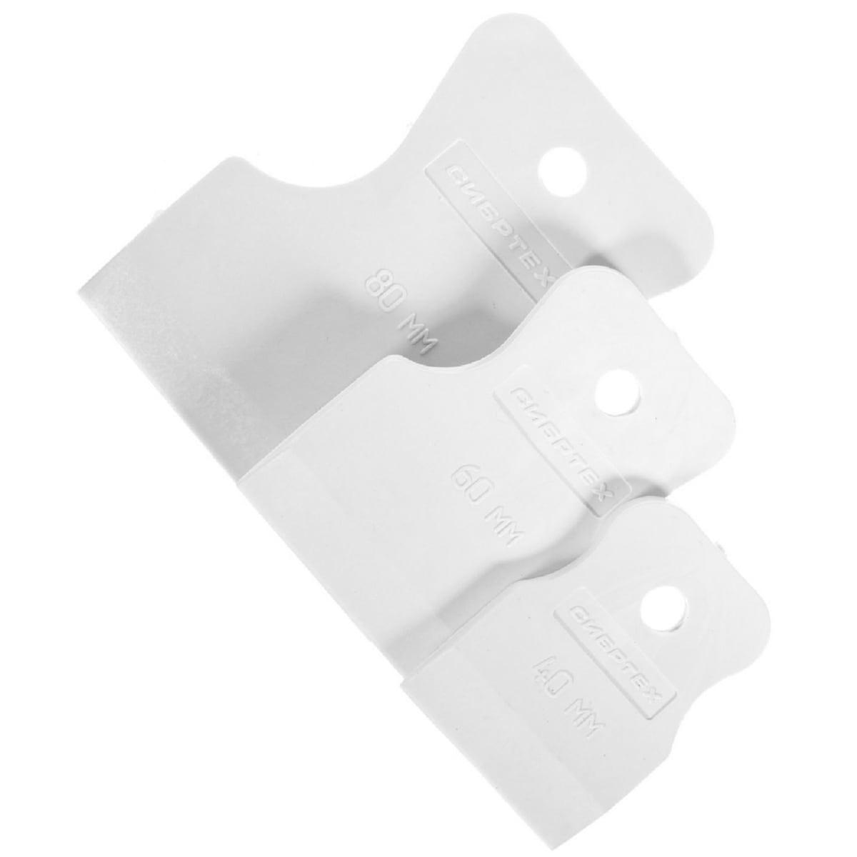 Набор шпателей Сибртех белая резина 40/60/80 мм, 3 шт.