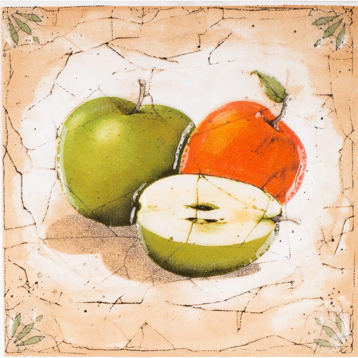 Декор «Гурман» 16.5х16.5 см яблоко цвет бежевый