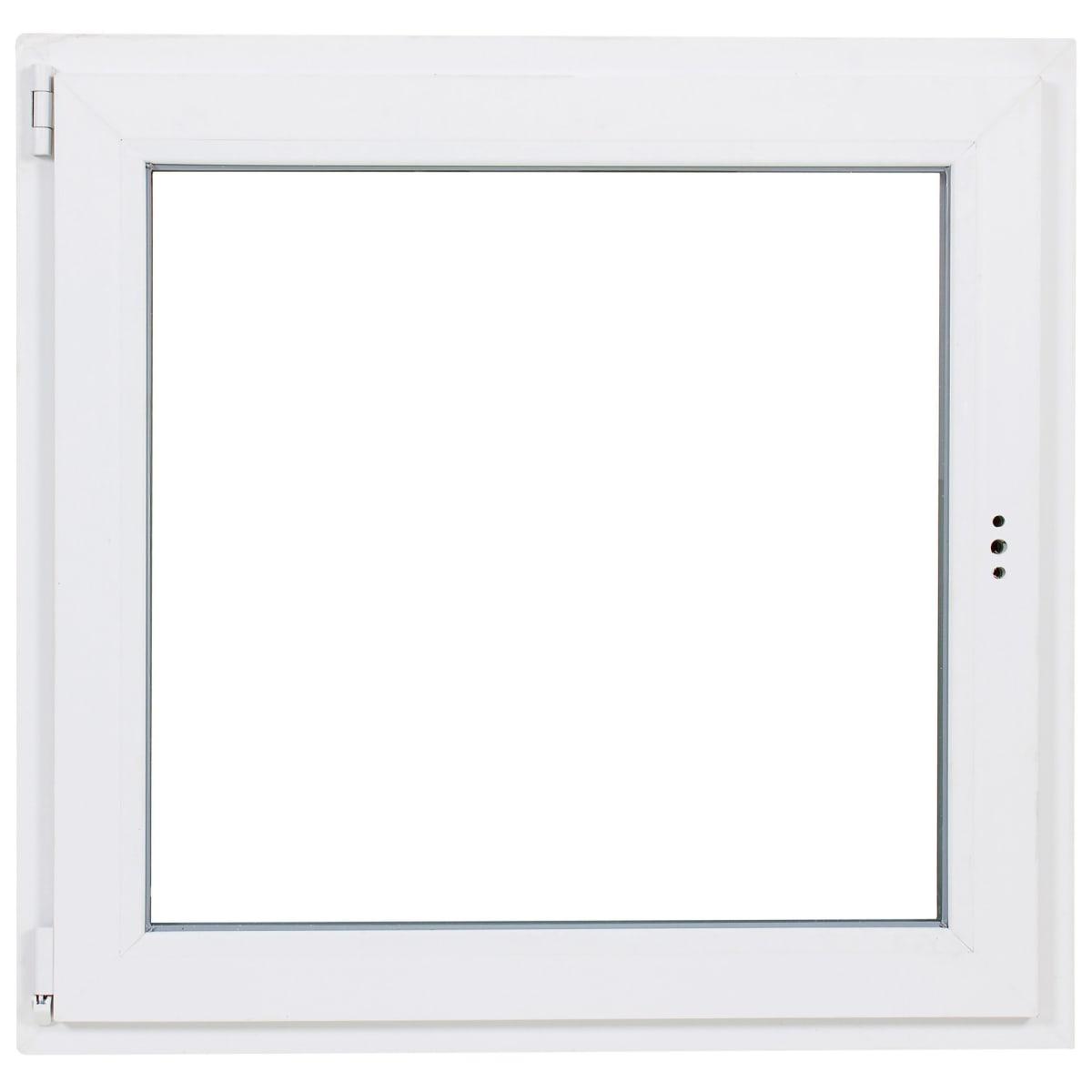 Окно ПВХ одностворчатое 90(87)х90 см поворотно-откидное левое