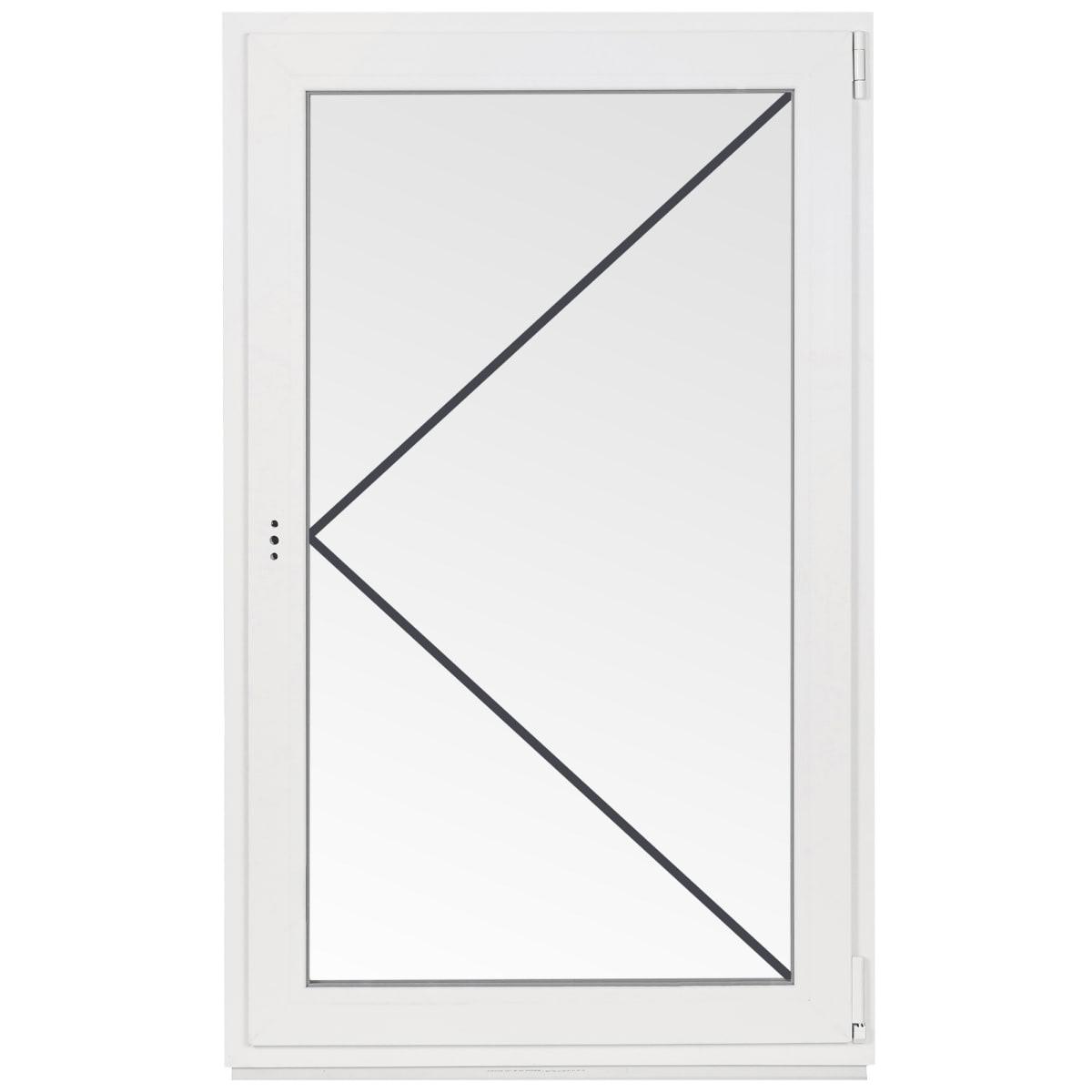 Окно ПВХ одностворчатое 110х70 см поворотное правое