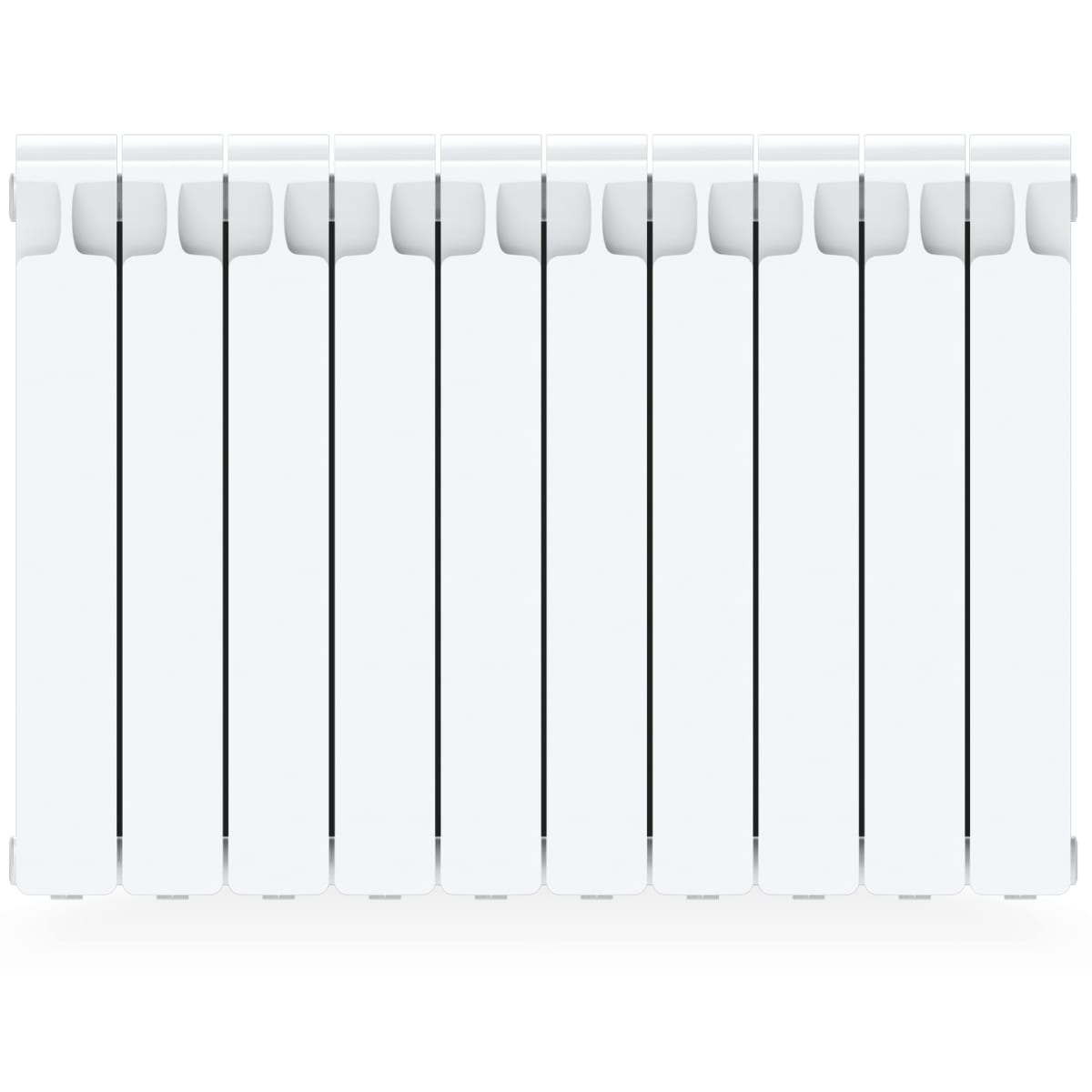 Радиатор Rifar Monolit 500, 10 секций, боковое подключение, 500 мм, биметалл