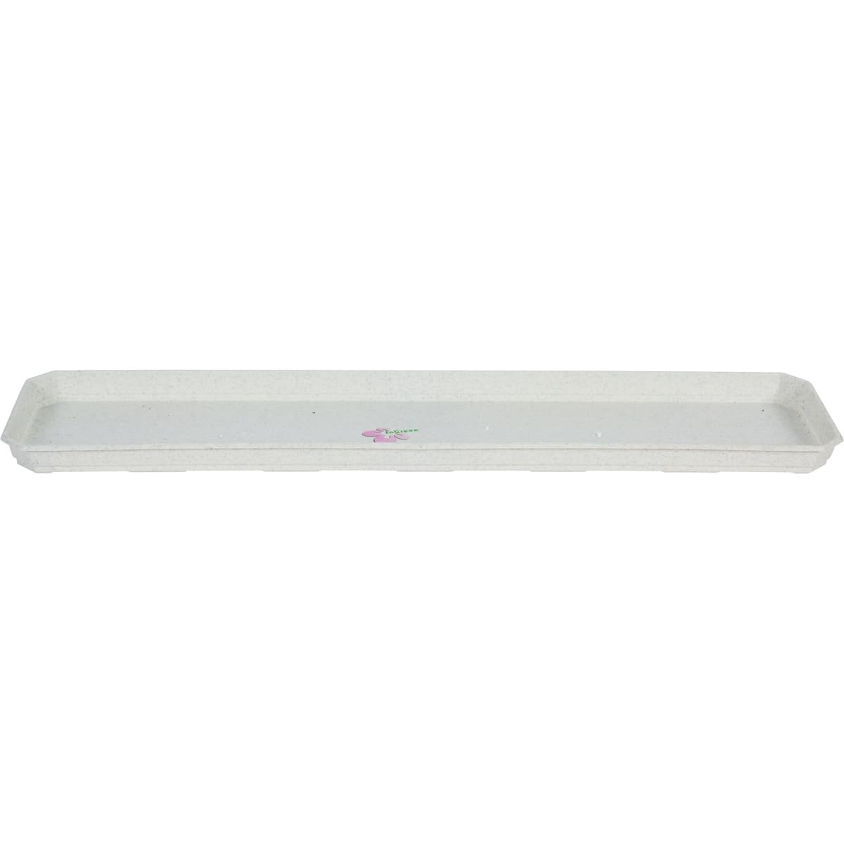 Поддон для балконного ящика 56.8 x 13.8 x 2.4 см полипропилен, цвет мраморный
