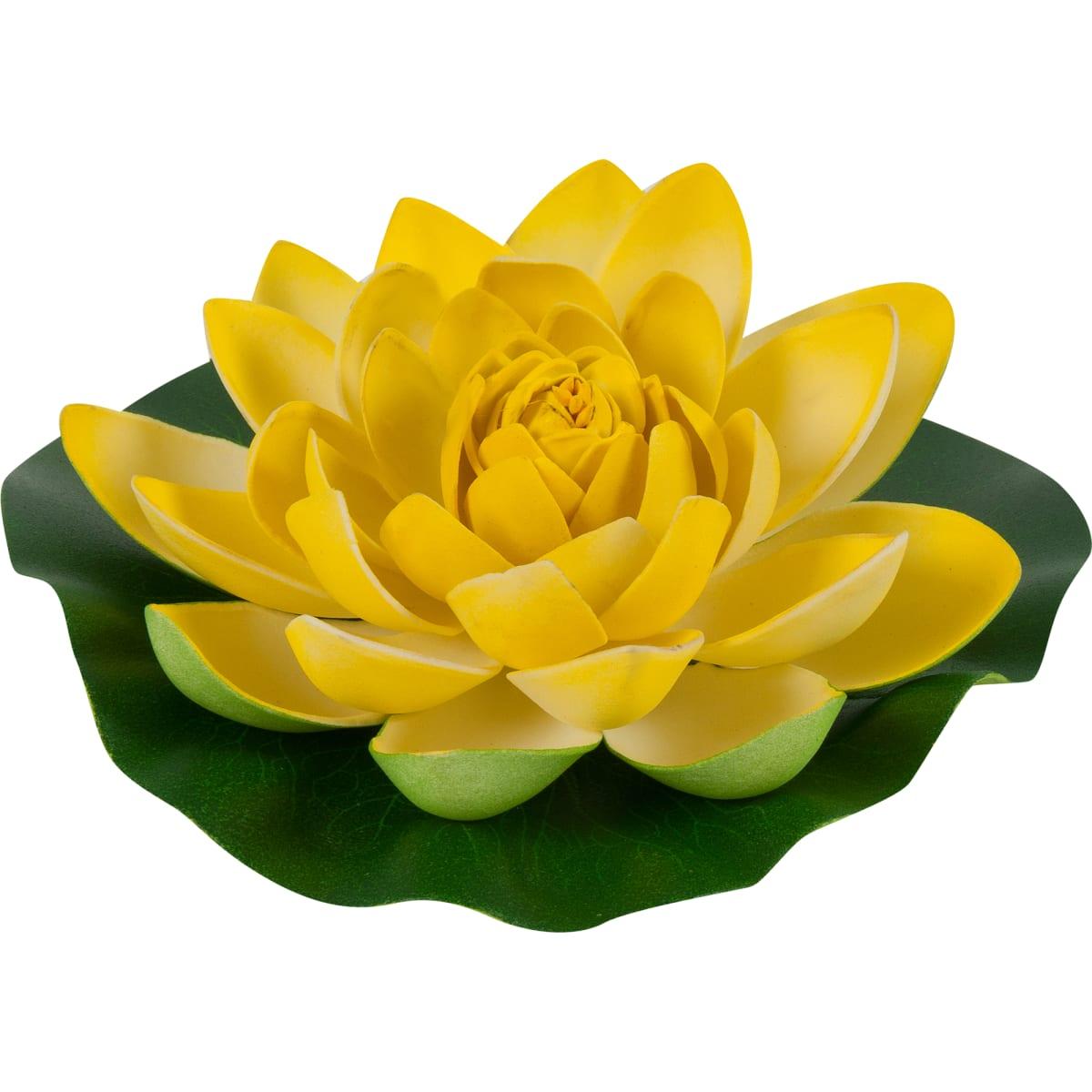 Украшение «Лилия» 180 мм, цвет белый/жёлтый/розовый