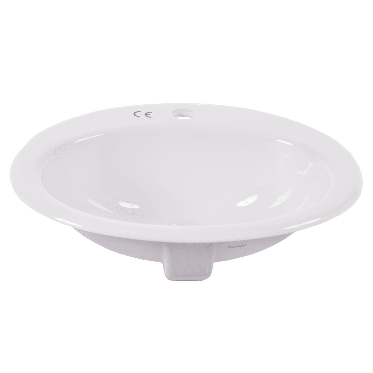 Раковина круглая Бианка 44 см, цвет белый
