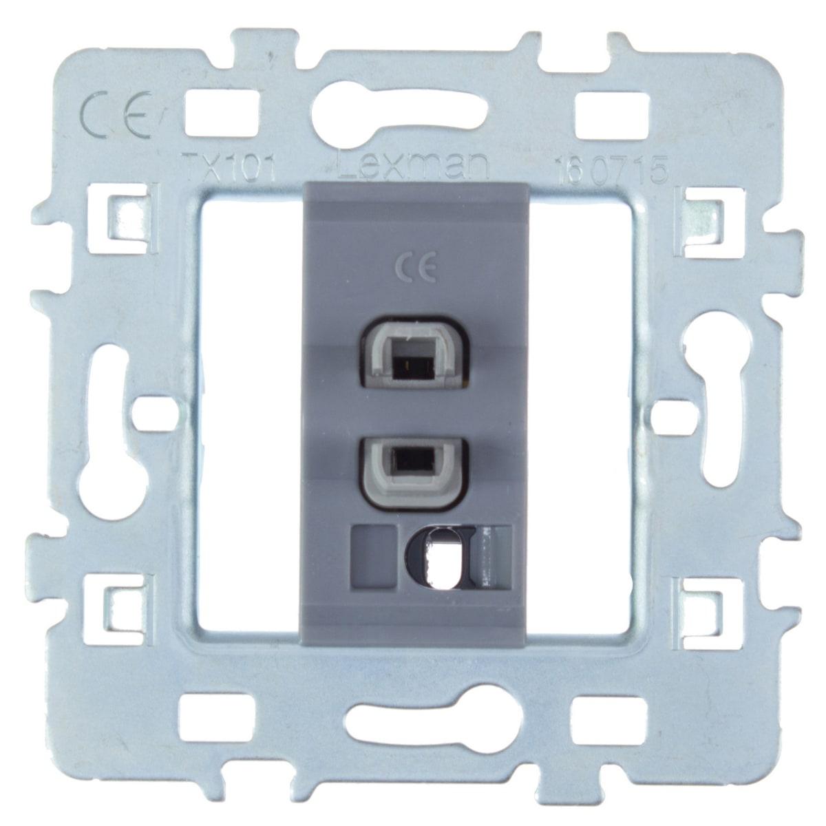 Выключатель встраиваемый Lexman Cosy 1 клавиша, цвет серый