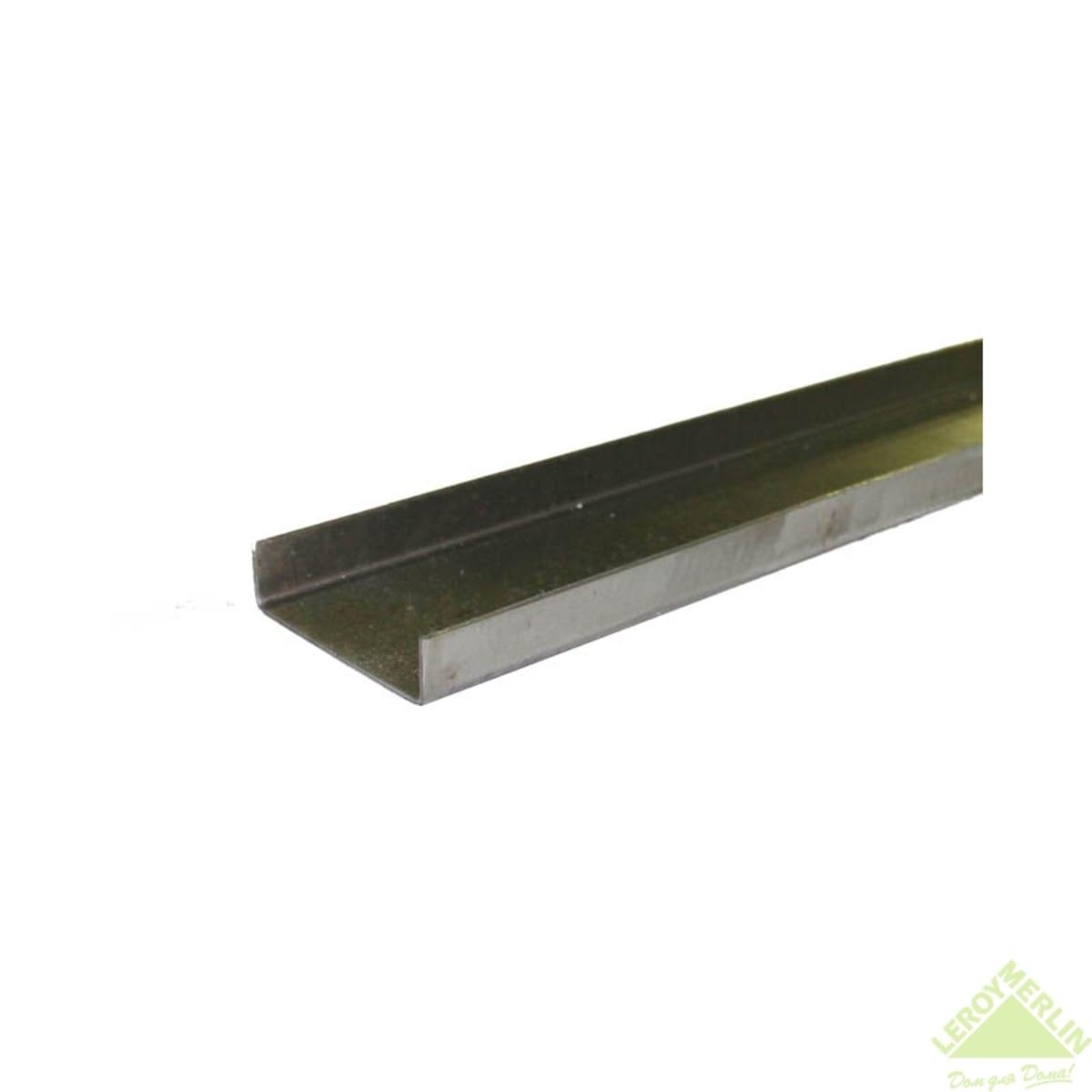 Швеллер 2000 мм, без отверстий, без покрытия