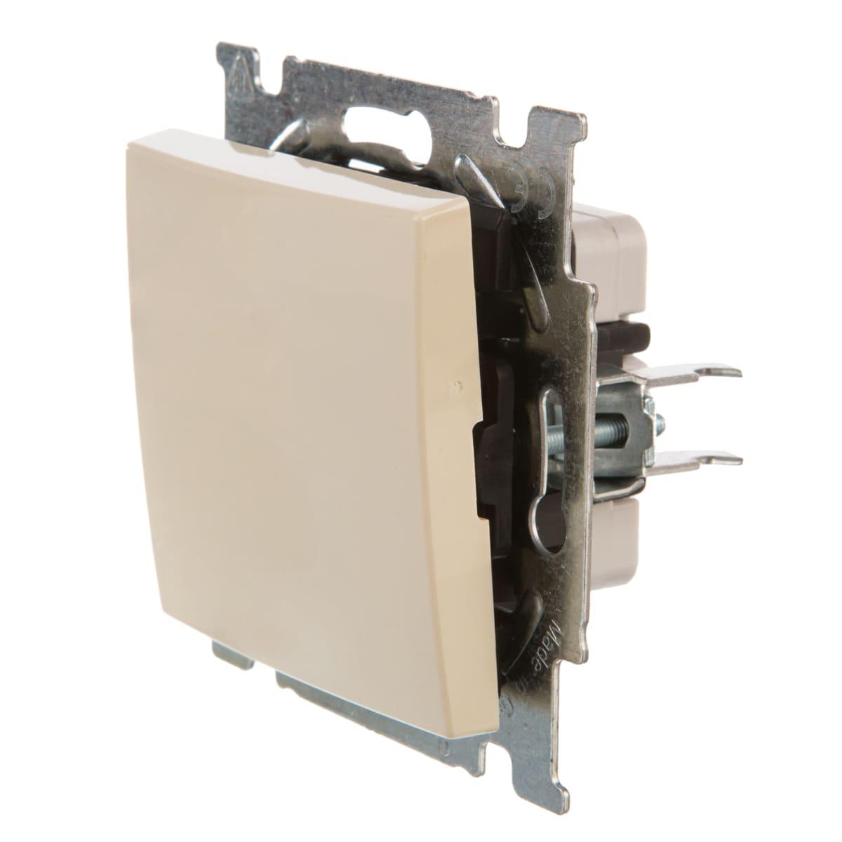 Выключатель встраиваемый ABB Basic 55 1 клавиша, цвет бежевый